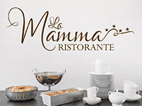 Wandtattoo Ristorante La Mamma | Bild 2
