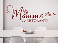 Wandtattoo Ristorante La Mamma | Bild 4