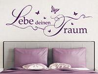 Wandtattoo Lebe deinen Traum mit Schmetterlingen | Bild 2
