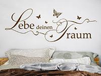 Wandtattoo Lebe deinen Traum mit Schmetterlingen | Bild 3