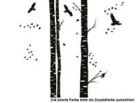 Wandtattoo Zweifarbige Baumstämme Motivansicht