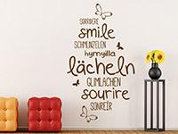 Wandtattoo Lächeln in verschiedenen Sprachen | Bild 2