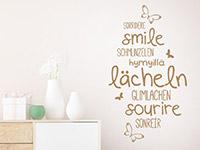 Wandtattoo Lächeln in verschiedenen Sprachen | Bild 3