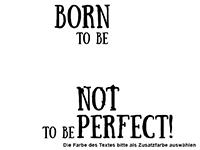 Wandtattoo Born to be happy Motivansicht
