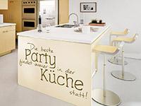 Wandtattoo Partyküche in der Küche