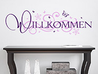 Wandtattoo Willkommen mit Ornament | Bild 2