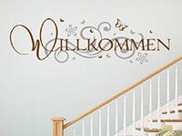 Wandtattoo Willkommen mit Ornament | Bild 3