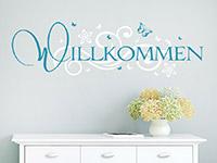 Wandtattoo Willkommen mit Ornament | Bild 4