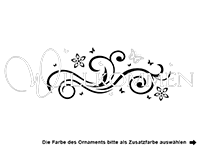 Wandtattoo Willkommen Ornament Motivansicht