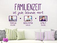 Wandtattoo Familienzeit mit Fotorahmen | Bild 2