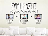 Wandtattoo Familienzeit mit Fotorahmen | Bild 3