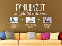 Wandtattoo Familienzeit mit Fotorahmen | Bild 4