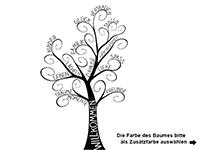 Wandtattoo Willkommensbaum Motivansicht