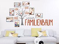Wandtattoo Unser Familienbaum mit Fotorahmen | Bild 2