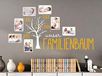 Wandtattoo Unser Familienbaum mit Fotorahmen | Bild 4