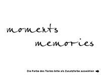 Wandtattoo Lifelong memories mit Fotorahmen Motivansicht