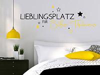 Lieblingsplatz für Süße Träume Wandtattoo in schwarz und gelb