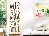 Wandtattoo Freche Familie | Bild 2