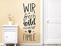 Wandtattoo Freche Familie | Bild 3