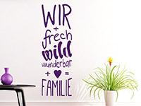Wandtattoo Freche Familie | Bild 4