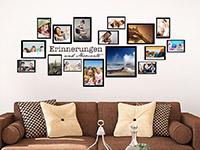 Wandtattoo Fotorahmen Erinnerungen und Momente | Bild 2