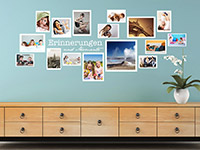 Bilder Wandtattoo Fotorahmen Set Erinnerungen in weiß