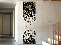 Wandtattoo Banner Dreiecke auf heller Wand
