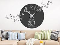 Wandtattoo Uhr Wie die Zeit verfliegt im Wohnzimmer
