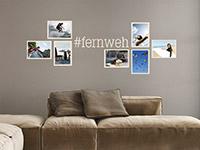 Wandtattoo Fotorahmen Hashtag Fernweh | Bild 3