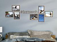 Wandtattoo Fotorahmen Hashtag Fernweh | Bild 4