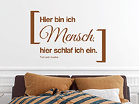 Wandtattoo Frei nach Goethe | Bild 2