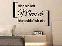 Wandtattoo Frei nach Goethe | Bild 3