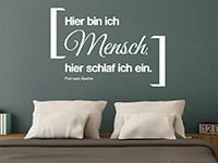 Wandtattoo Frei nach Goethe | Bild 4