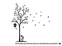 Wandtattoo Baum mit Wunschname Motivansicht