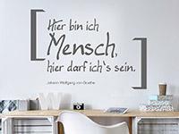 Wandtattoo Goethe Mensch im Wohnbereich