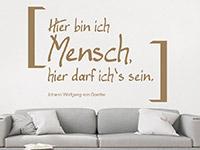 originelles Wandtattoo Mensch von Goethe auf hellem Hintergrund