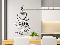 Wandtattoo Café Zeit | Bild 3
