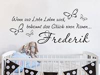 Wandtattoo Wenn aus Liebe Leben | Bild 3