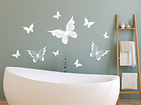 Wandtattoo Verspielte Schmetterlinge | Bild 2