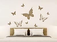 Wandtattoo Verspielte Schmetterlinge | Bild 3