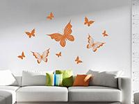 Wandtattoo Verspielte Schmetterlinge | Bild 4