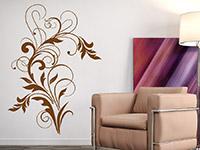 Ornament Wandtattoo Dekoratives Schmuckelement auf heller Wandfläche