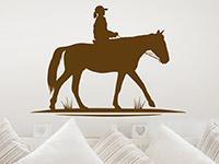 Pferde Wandtattoo Reitendes Kind auf Pferd als schöne Wanddeko