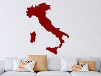 Wandtattoo Italien im Wohnzimmer