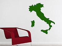 Italien Wandtattoo Silhouette in grün