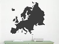 Wandtattoo Europa Karte | Bild 2