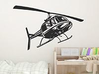 Wandtattoo Helikopter | Bild 2