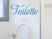 Wandtattoo Toilette im Bad