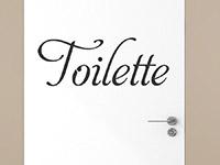 Wandtattoo Toilette auf einer Tür