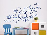 Wandtattoo Unterwasserwelt mit Delphin | Bild 4
